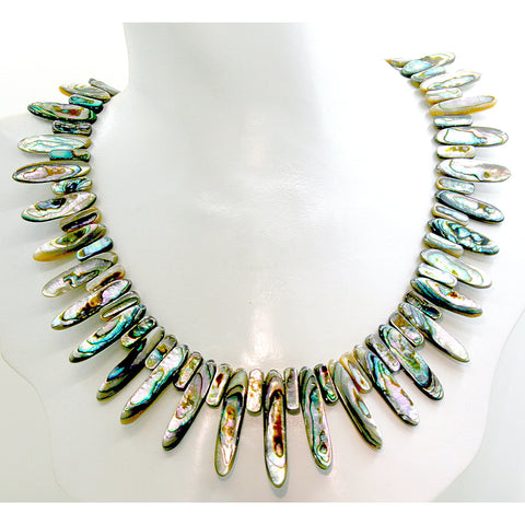Marquis Abalone Necklace