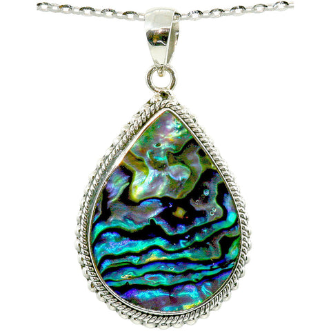 Beautiful Pear Shape Abalone Necklace