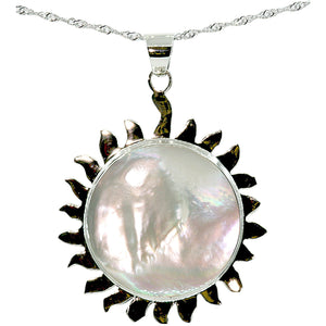 Mother of Pearl Sun Necklace