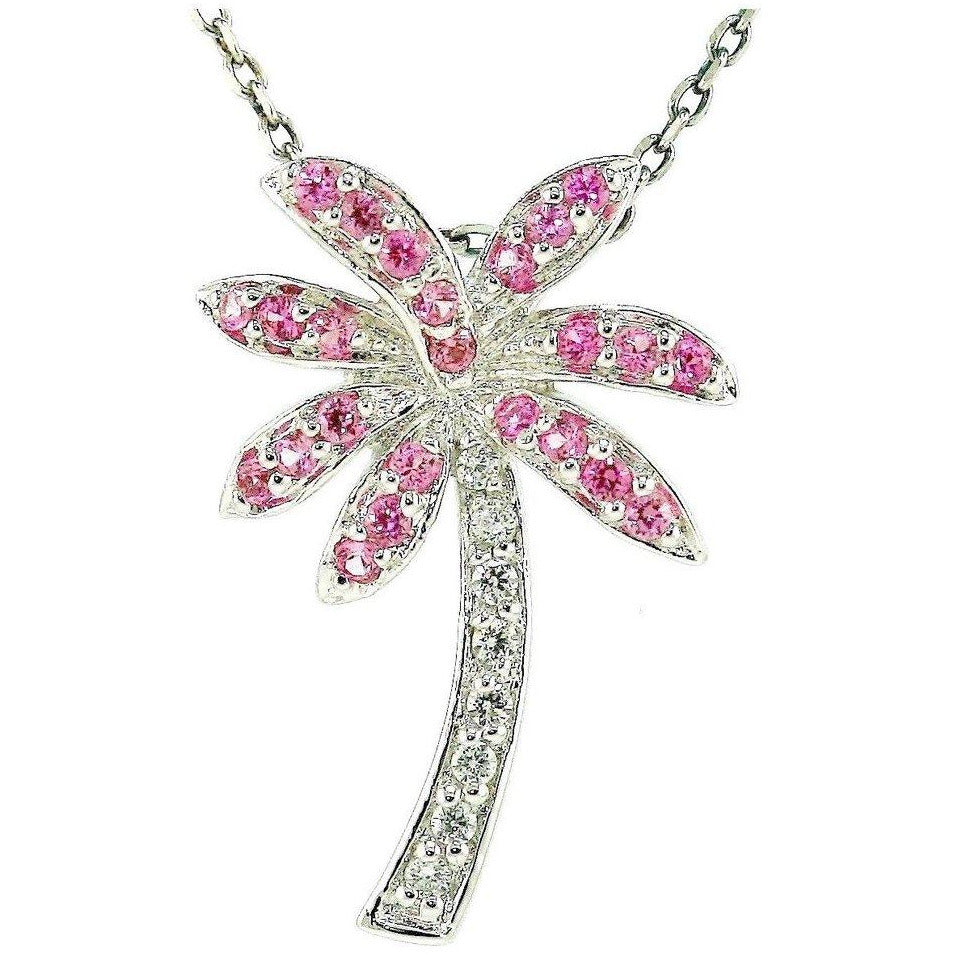 Florida Pink Palm Tree Necklace