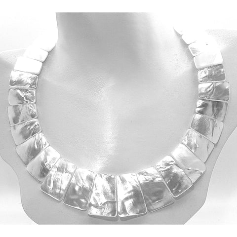 Jabot Mother of Pearl Necklace