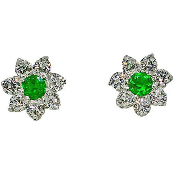 La Fleur Emeraude Earrings