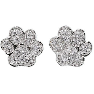 Pave Paw Earrings