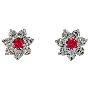 La Fleur Rouge Earrings