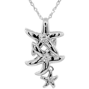 Star Fish Family Necklace