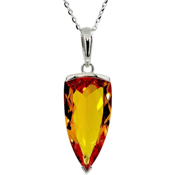 Citrine Trillion Necklace