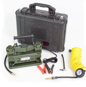 SuperFlow twin cylinder 12 volt portable air compressor in case