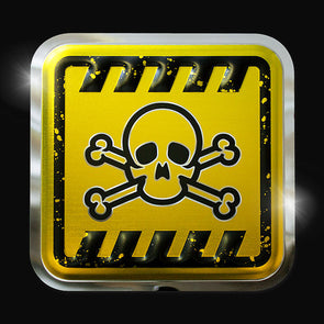 Hazard Sign - Skull & Crossbones