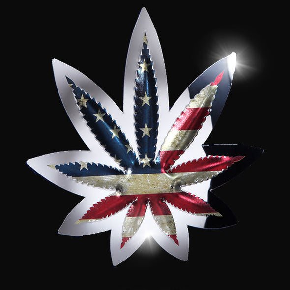 Cannabis Leaf - U.S. Flag