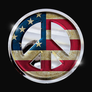 Peace Sign - American Flag