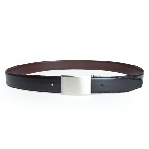 Calvin Klein Brushed Buckle Reversible Belt