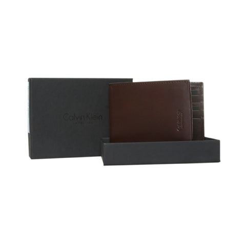 Calvin Klein Brown Bifold Wallet Box
