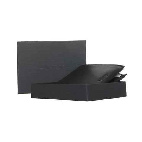 Calvin Klein Black Bifold Coin Flap Wallet Box