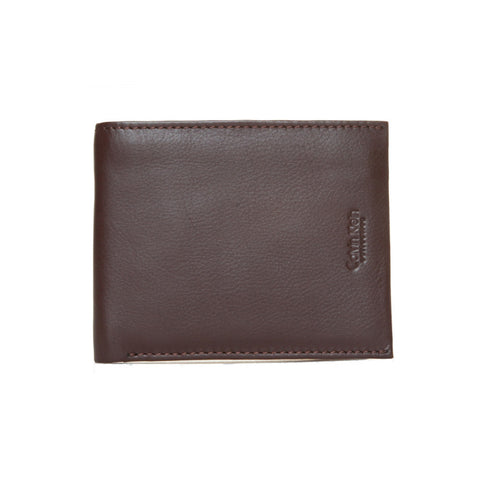 Calvin Klein Brown Bifold Coin Flap Wallet