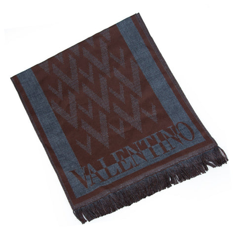 Valentino Graphiques Chocolat Scarf Sale