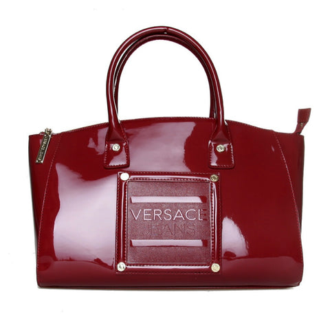Versace Bordeaux Patent Doctor Handbag Sale