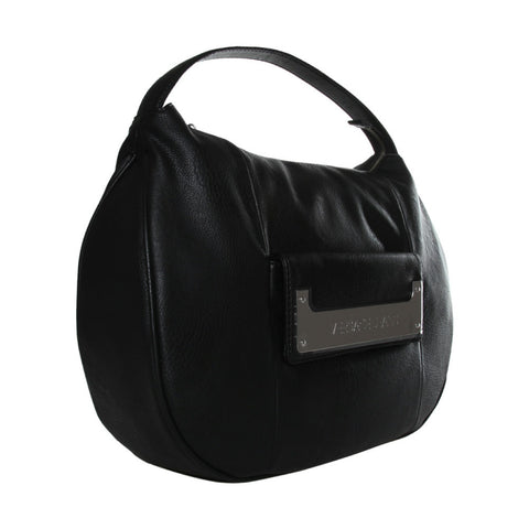 Versace Textured Black Hobo Handbag Sale