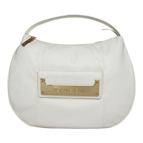 Versace Textured White Hobo Handbag Sale