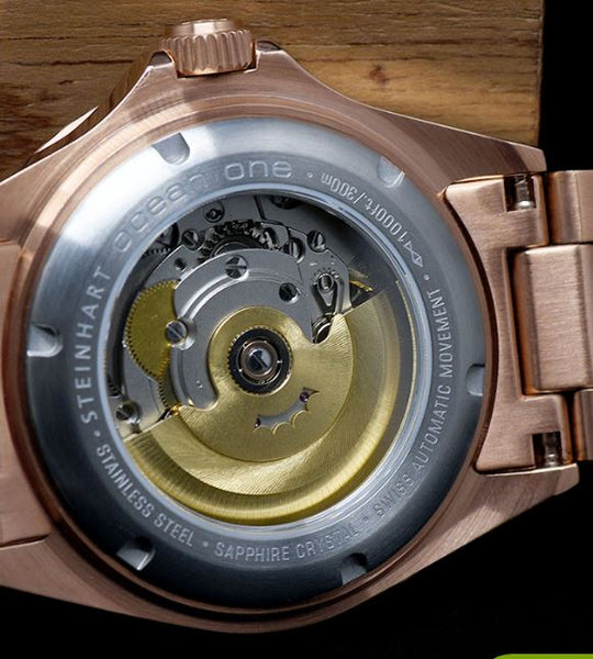 OCEAN 1 PINK GOLD BLACK CERAMIC - LIMITED exclusively only here available