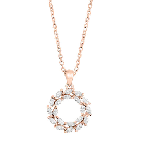 Rosegold-plated silver necklace BIBBI 14mm