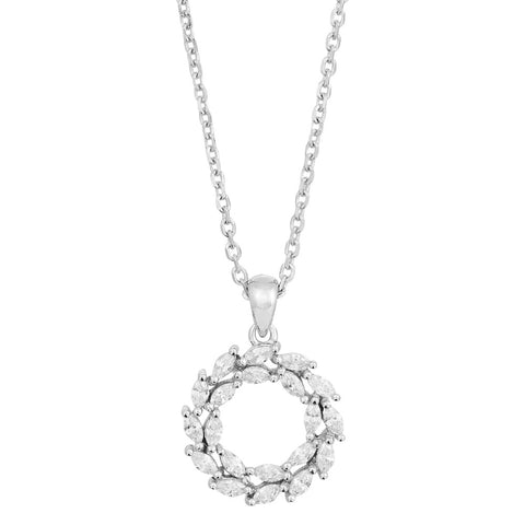 Rhodium-plated silver necklace BIBBI 14mm