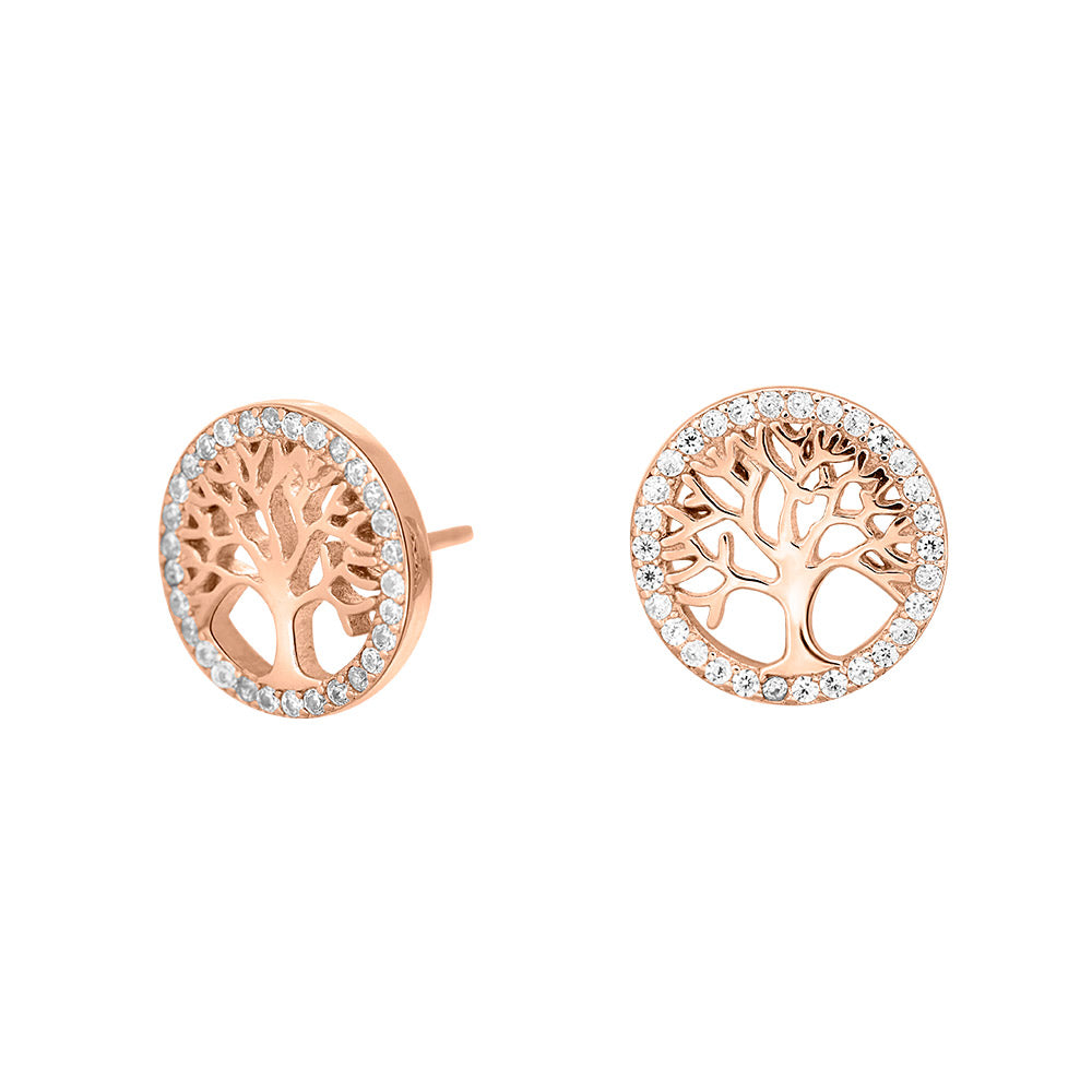 Rosegold-plated silver earrings CAIA