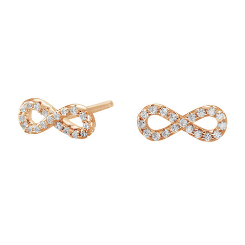 Rosegold-plated silver earrings AGNA with zirconia