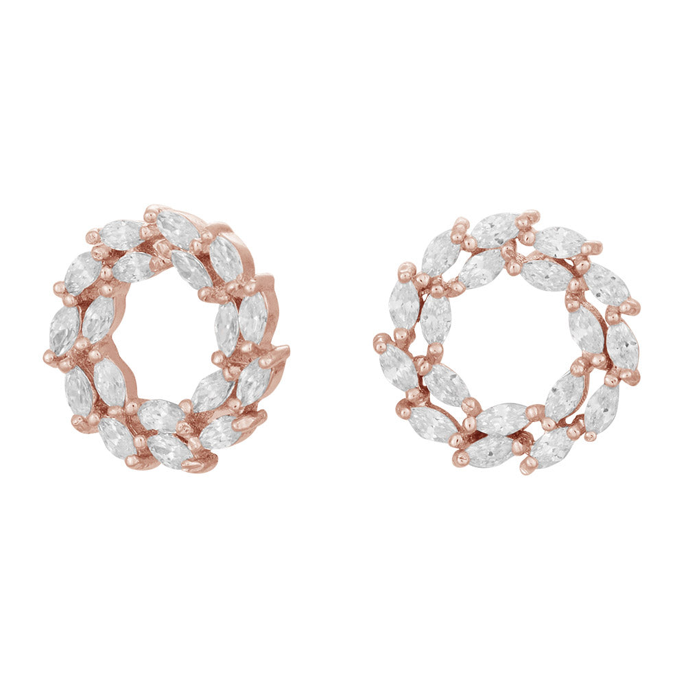 Rosegold-plated silver earrings BIBBI 13mm