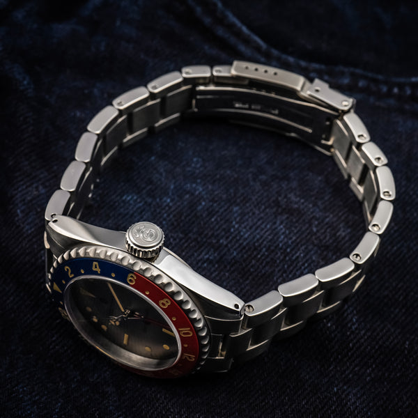 "Ocean 39 vintage GMT Premium blue red Ceramik special OLKO edition ""exclusively only here available"""