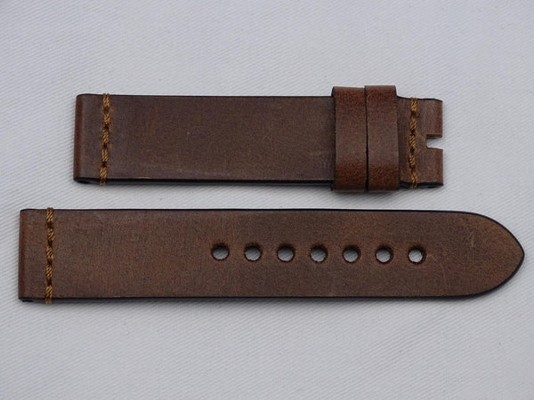 Leather Strap brown with bonce stitching