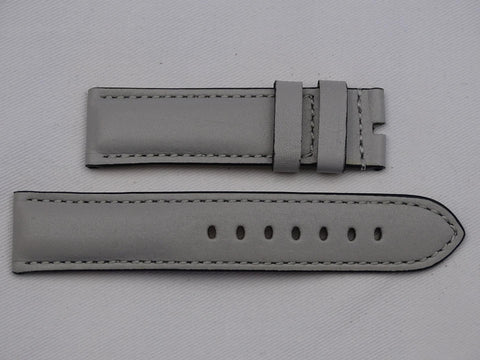 Leather Strap grey with grey stitching