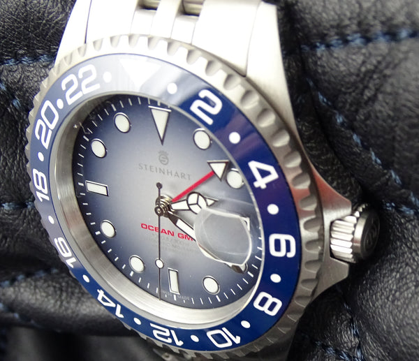 OCEAN 1 GMT PREMIUM BLUE CERAMIC JUBILEE - LIMITED exclusively only here available