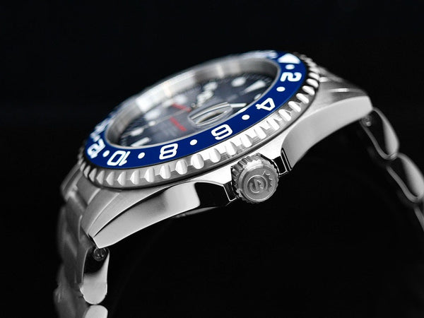 OCEAN 1 GMT PREMIUM BLUE CERAMIC - LIMITED exclusively only here available