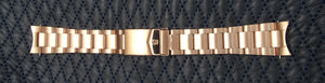Strap Stainless steel 22mm Pink Gold