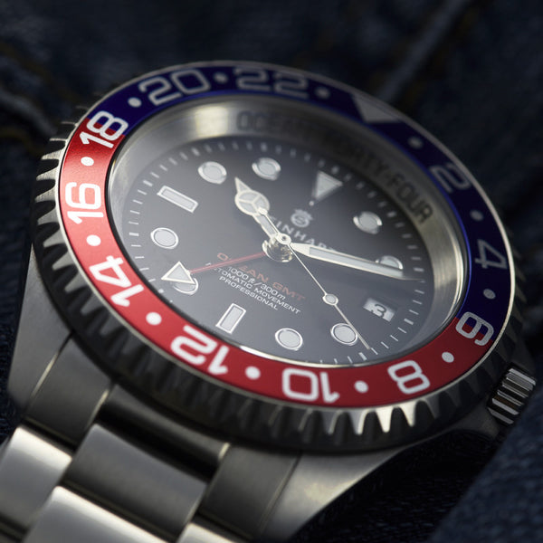 OCEAN Forty-Four GMT Blue-Red