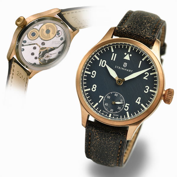 Nav. B-Uhr 42 Handaufzug Bronze blue antique