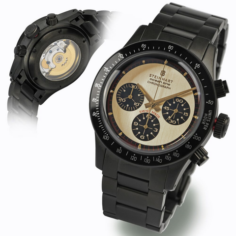 Ocean One Vintage Chronograph black mat DLC cream exclusively only here available