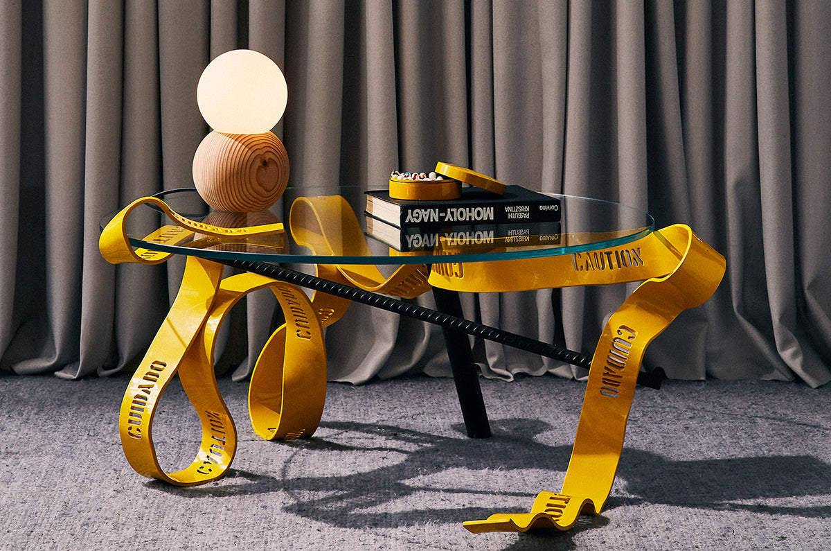 The Caution Tape Coffee Table