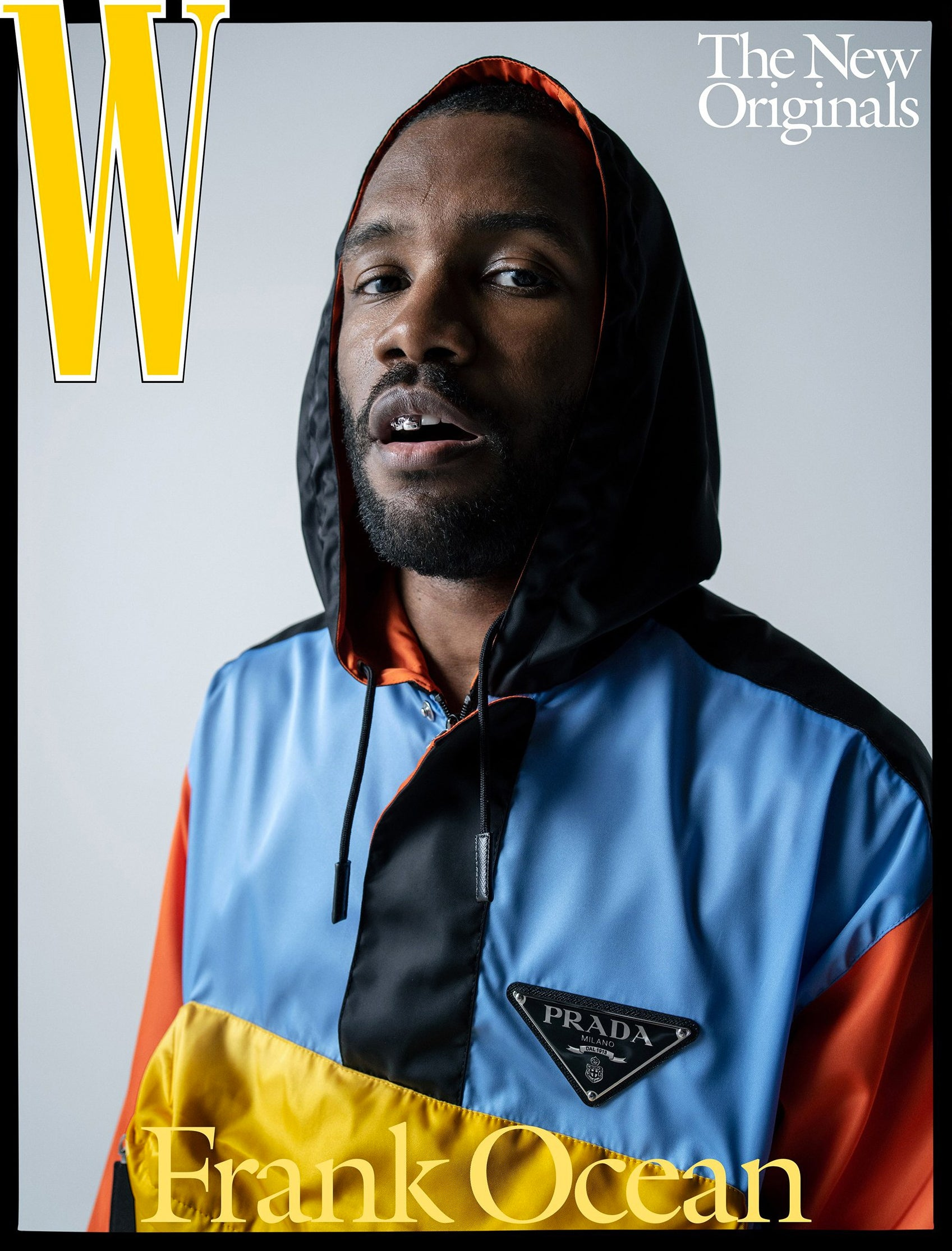 Frank Ocean Covers W Magazine in a Multicolored Prada Jacket