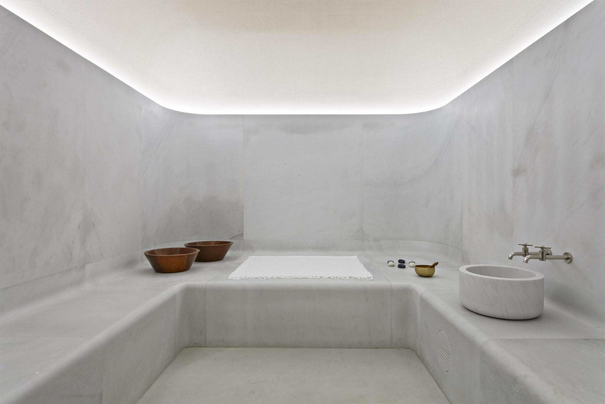 Sauna Design Is Minimalist Gold