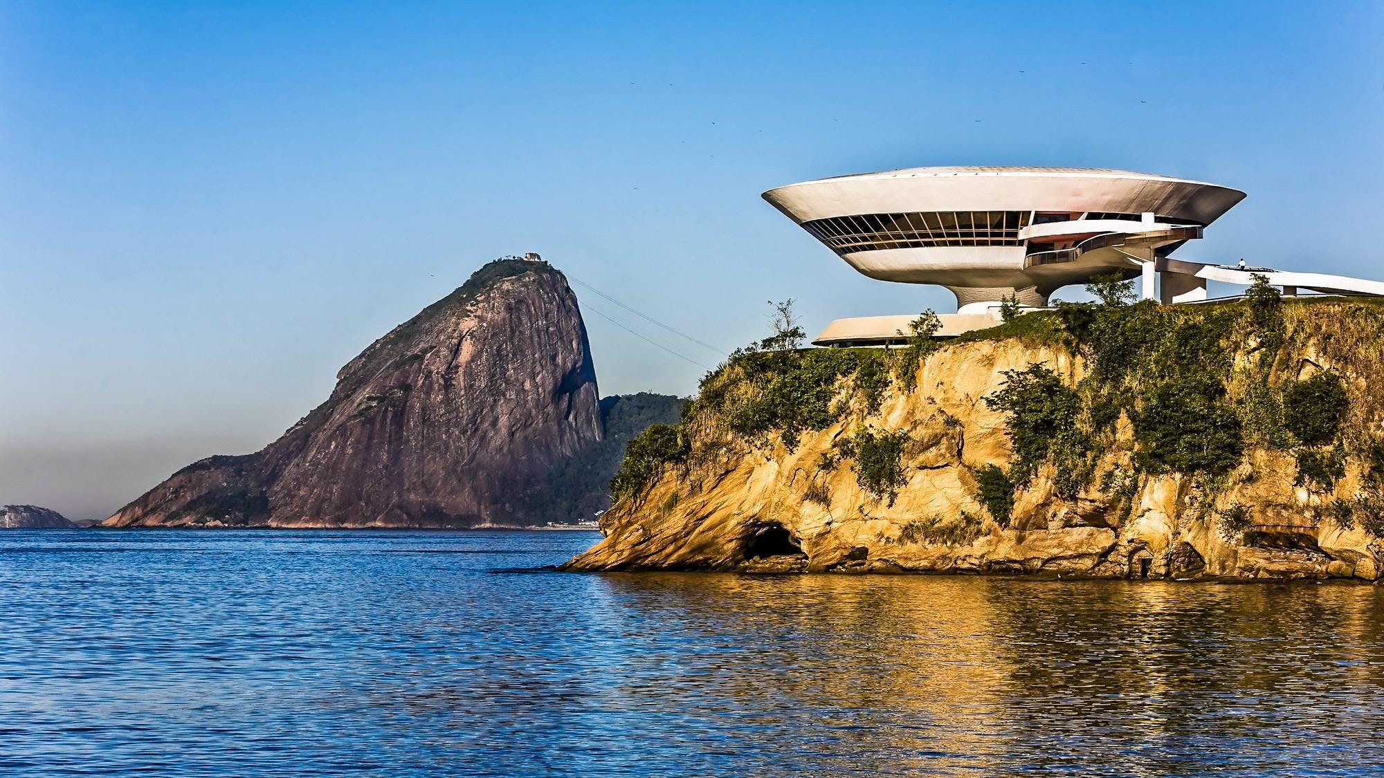 The UFO Architecture for the Museum of Contemporary Art by Oscar Niemeyer
