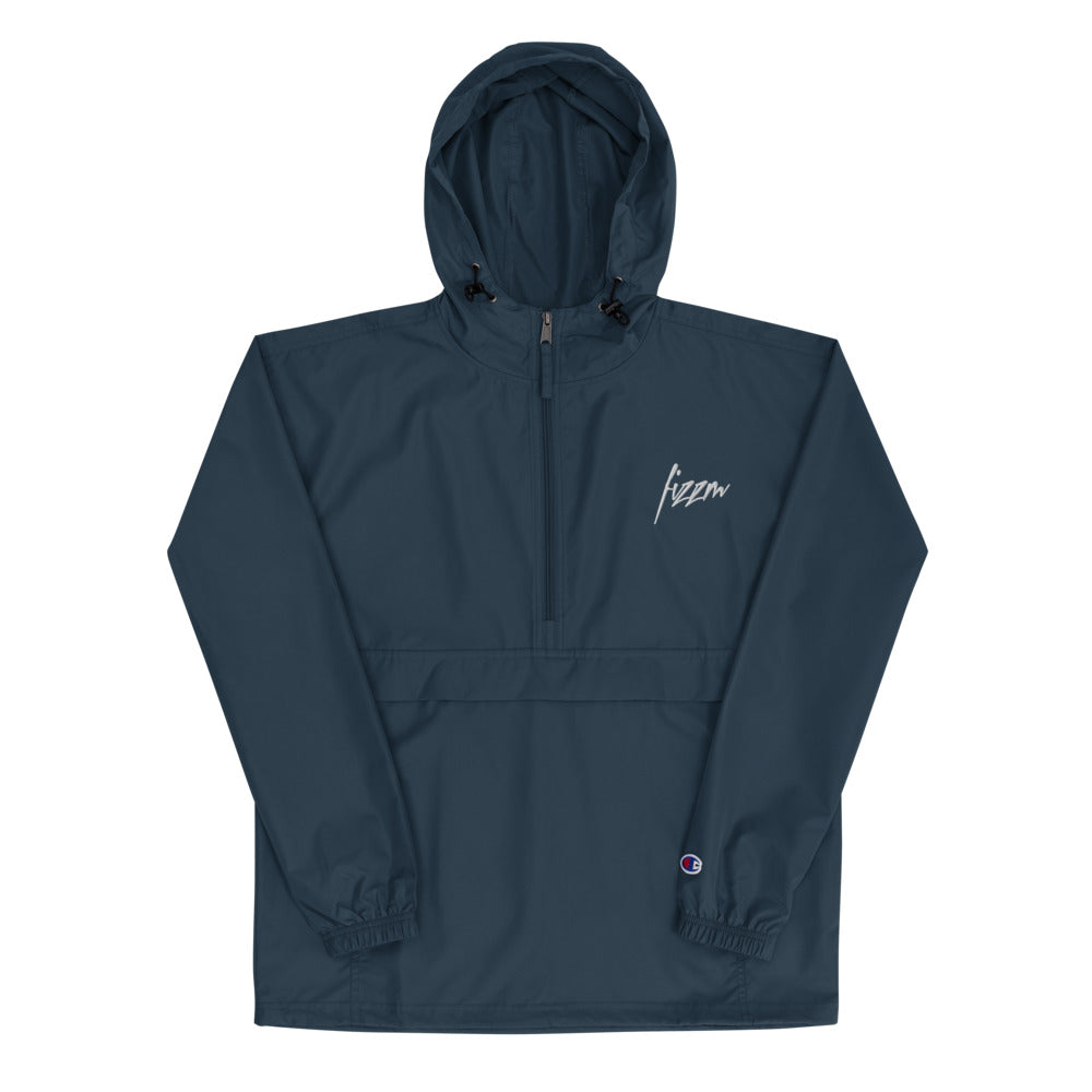 Signature Fizzm x Champion Packable Navy Blue Jacket - Fizzm