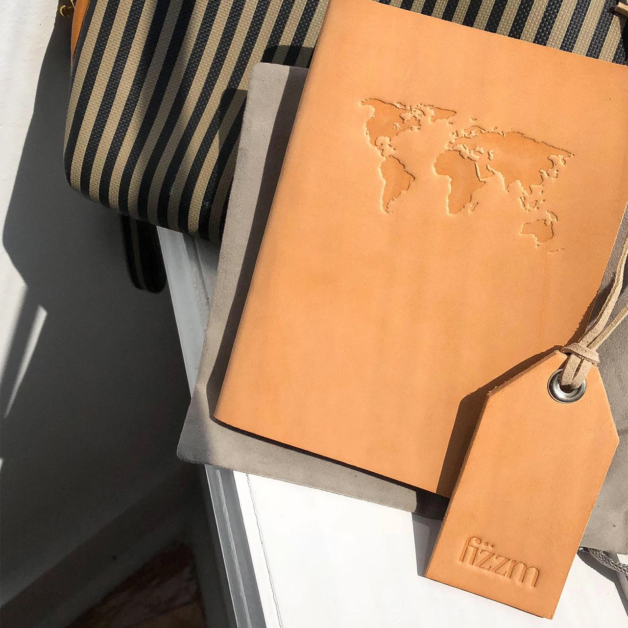 Raw Leather Passport Holder - Fizzm