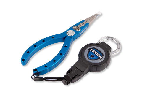 "6"" Fishing Pliers with Medium Retractable Gear Tether"