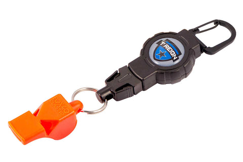 Small Retractable Gear Tether with FOX40 Safety Whistle
