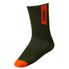 Pawer Fit Green & Brick - Crew Socks