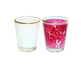 Pack of 20 - Shot Glasses with Gold Trim 1.5 oz for Sublimation