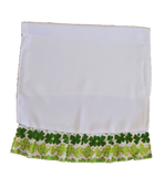 "Pack of 3 - ""Saint Patrick's"" White Waffle Towels with Ruffle for Sublimation"