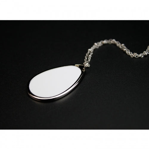 Sublimation Teardrop Charm Necklace