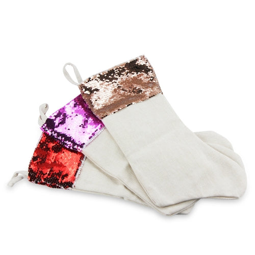 Reversible Sequin Sublimation Christmas Stockings